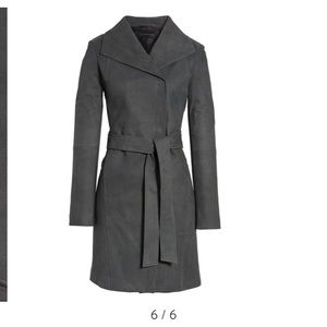 Elie Tahari Jacqueline Belted Trench Leather Coat